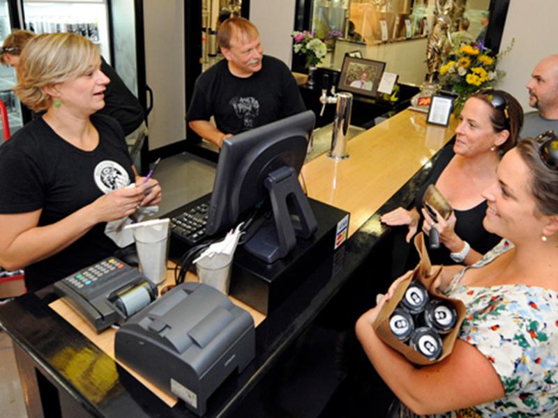 Customers line up inside former Waterbury retail space